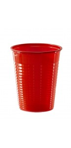 Lot de 50 gobelets jetables en plastique rouge 20 cl