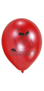 Lot de 6 ballons Angry Birds en latex