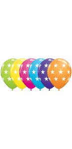 Lot de 6 ballons étoiles assortis