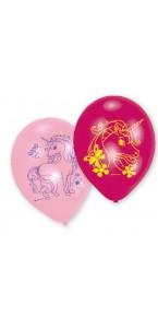 Lot de 6 ballons Licorne en latex 23 cm