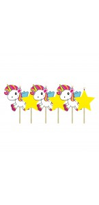 Lot de 6 bougies Licorne