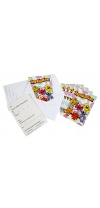 Lot de 6 cartes invitation Monsieur madame