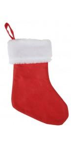 Lot de 6 chaussettes de Noël en tissu 8 x 14 cm