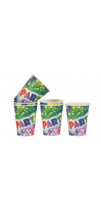 Lot de 6 gobelets jetables Party