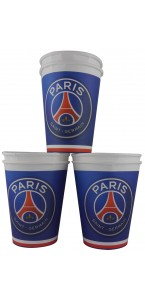 Lot de 6 gobelets jetables PSG 25 cl