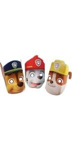 Lot de 6 masques Pat Patrouille en plastique