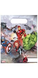 Lot de 6 sachets-cadeaux Avengers
