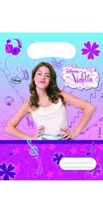Lot de 6 sachets-cadeaux Violetta