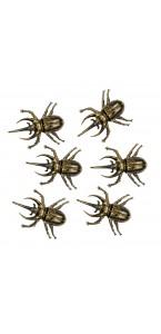 Lot de 6 scarabées halloween 6x5 cm