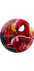 Lot de 8 assiettes jetables amazing spiderman 2