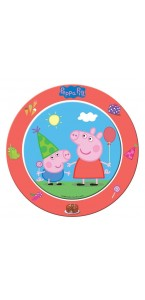Lot de 8 assiettes jetables Peppa Pig 23 cm