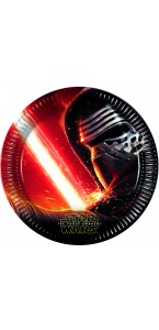 Lot de 8 assiettes Star Wars VII en carton 23 cm