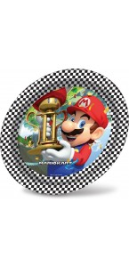 Lot de 8 assiettes Super Mario D 23 cm