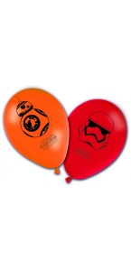 Lot de 8 ballons en latex imprimé Star Wars VII
