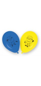 Lot de 8 ballons imprimé Lovely Minions