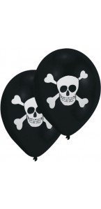 Lot de 8 ballons Pirate Party en latex 23 cm