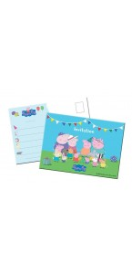 Lot de 8 cartes invitation Peppa Pig
