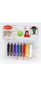 Lot de 8 crayons de maquillage retractables