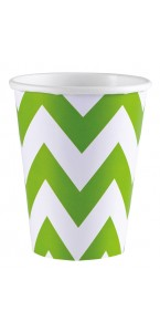 Lot de 8 gobelets Chevron kiwi 26, 6 cl