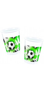 Lot de 8 gobelets Football 20 cl