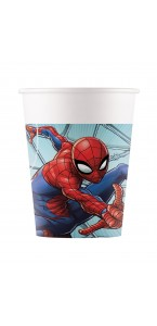 Lot de 8 gobelets Spiderman publishing en plastique 20 cl