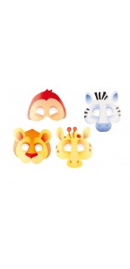 Lot de 8 masques Jungle