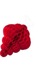 Lot de 8 pampilles alvéolées rouge 10 x 7,5 cm