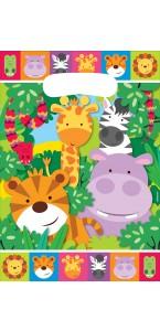 Lot de 8 sachets-cadeaux Jungle