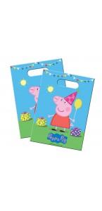 Lot de 8 sachets -cadeaux Peppa Pig