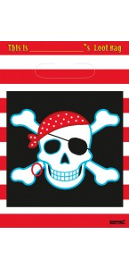 Lot de 8 sachets-cadeaux Pirate Party
