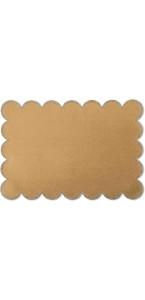 Lot de 8 sets de table Kraft bord cuivre pailleté 28 x 40 cm