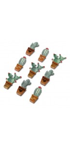 Lot de 9 Stickers Cactus assortis 4,5 x 1,8 cm