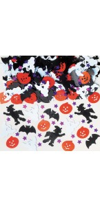 Lot de confettis de table assortis Halloween