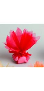 Lot de10 ronds de tulle cristal rouge D 24 cm