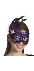 Loup Ragnatela violet et noir Halloween