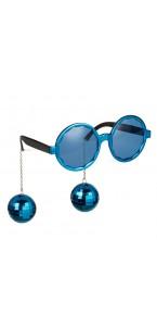 Lunettes Boules Disco bleues