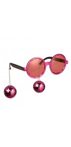 Lunettes Boules Disco roses