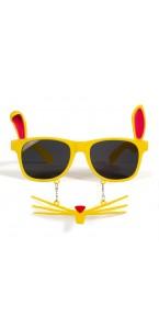 Lunettes Lapin avec moustachse jaunes