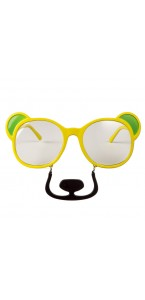 Lunettes ours jaune