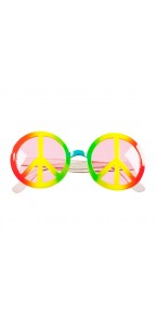 Lunettes Peace and Love Holographiques