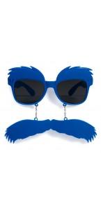 Lunetttes sourcils et moustache bleues