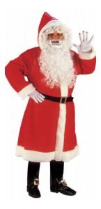 Manteau de père noël rouge luxe avec accessoires