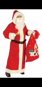 Manteau de père noël rouge luxe