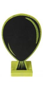 Marque table ardoise ballon vert pailleté