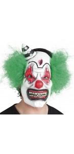 Masque Clown horreur en latex avec cheveux Halloween