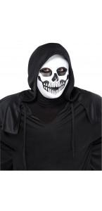 Masque Crâne noir et blanc Halloween