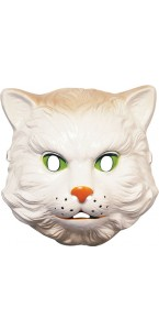 Masque de Chat blanc PVC