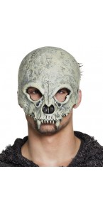 Masque de diable demi-visage en mousse Halloween