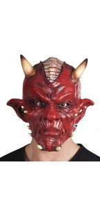 Masque Diable rouge luxe en latex Halloween