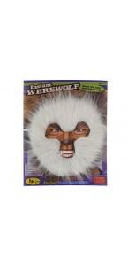 Masque loup-garou blanc adulte